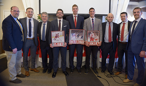Banquet group photo with coaches and staff