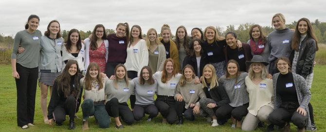 Women's Hockey Team picnic group